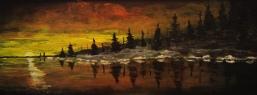 Sunset Rouge, #17080, $480, Acrylic, 8x20