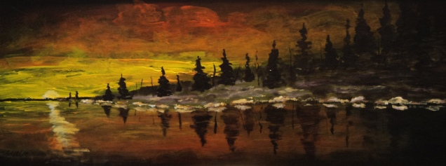 Sunset Rouge, #17080, $480, Acrylic, 8x20
