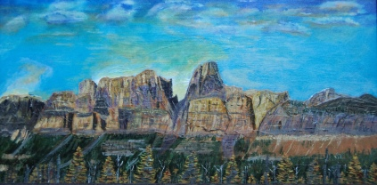 Castle Mountain, #15018, $750, Acrylic, 12x24