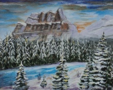 Castle Mountain, #16005, $250, Acrylic, 8x10