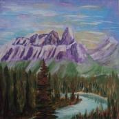 Castle Mountain, #17090, $150, Acrylic, 7x7
