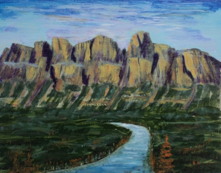 Castle Mountain 3, #15057, $250, Acrylic, 8x10