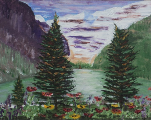 Lake Louise19, #17024, $250, Acrylic, 8x10