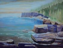 Spectacular Shorescape, #17019, $460, Acrylic, 11x14
