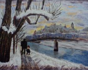 The Aldstade, Salzburg, #15063, Acrylic, 8x10