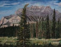 Cascade Mountain, #16062, $460, Acrylic, 11x14