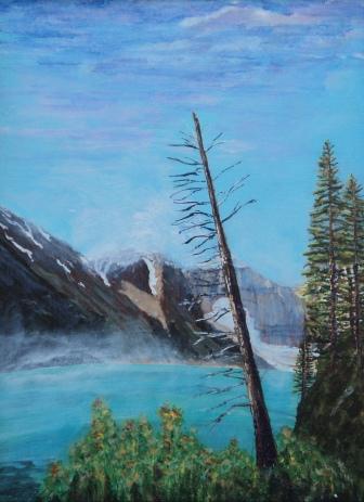 Dead Tree Leaning, #15022, $495, Acrylic, 12x16