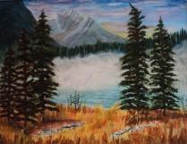 Emerald Lake, 15062, $750, Acrylic, 14x18