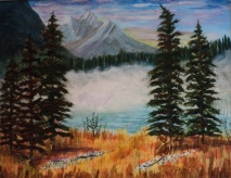 Emerald Lake, 15062, $750, Acrylic, 14x18