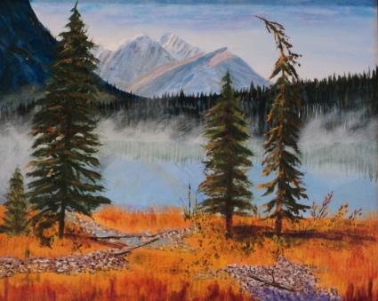Emerald Lake, #16020, $750, Acrylic, 16x20
