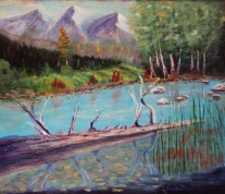 Fallen Timber, #17088, $750, Acrylic, 17x21