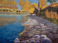 Fish Creek, #16037, $1150, Acrylic, 18x24