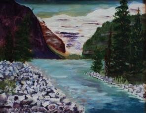 Lake Louise 26, #17036, $250, Acrylic, 8x10