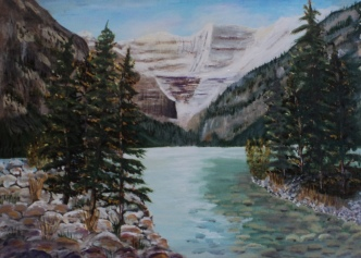 Lake Louise5, #15047, $995, Acrylic, 16x22
