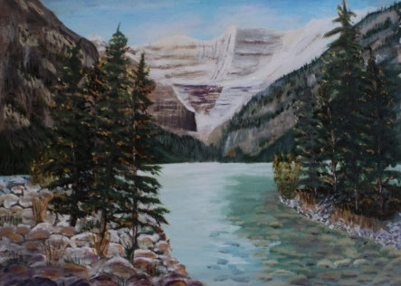 Lake Louise5, #15047, $995, Acrylic, 16x22