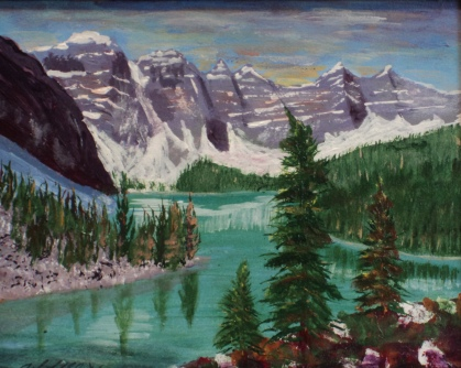 Magnificent Moraine, $17002, $250, Acrylic, 8x10