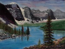 Moraine Lake, #17016, $360, Acrylic, 10x12