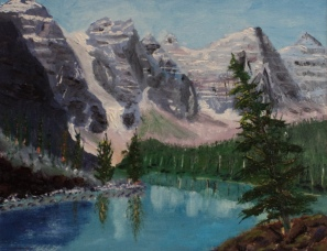 Moraine Lake 6, #16049, $250, Acrylic, 8x10