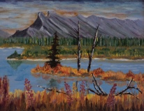 Mt. Rundle in the Fall, #17018, $360 Acrylic, 10x12