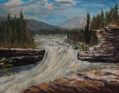 Sheep River Falls, #15060, $250, Acrylic, 8x10