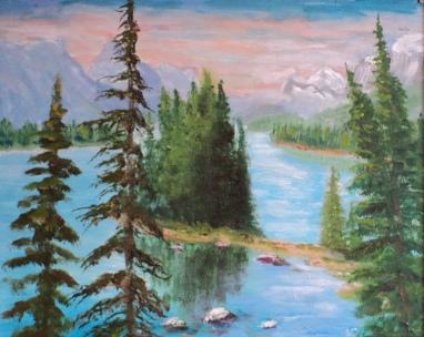 Spirit Island, Jasper #18006, Acrylic, $250, 8x10