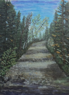The Road Less Travelled, #15036, $250, Acrylic, 8x10