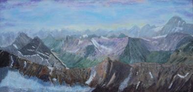 The Rockies, #14007, $850, Acrylic, 12x24