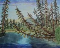 Vermilion Lakes Creek, #15043, $250, Acrylic, 8x10