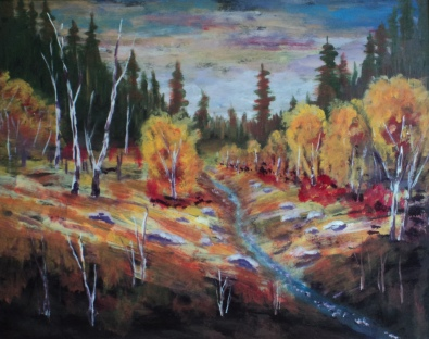 Autumn Glory, #18009, $750, Acrylic, 16x20