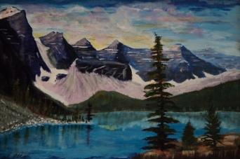 Moraine Lake 12, #17054, $600, Acrylic, 12x18