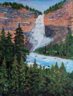 Takakkaw Falls, Yoho National PK, #16068, $460, Acrylic, 11x14