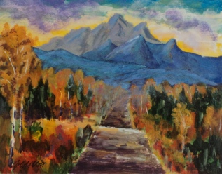 Autumn Journey, #17077, $250, Acrylic, 8x10
