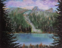 Emerald Lake, #15015, $250, Acrylic, 8x10