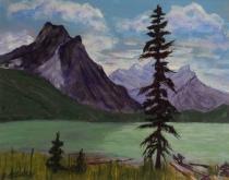 Emerald Lake Majesty, #17048, $250, Acrylic, 8x10