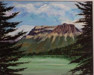 Emerald Lake Wapta Mt. #17049, $250, Acrylic, 8x10