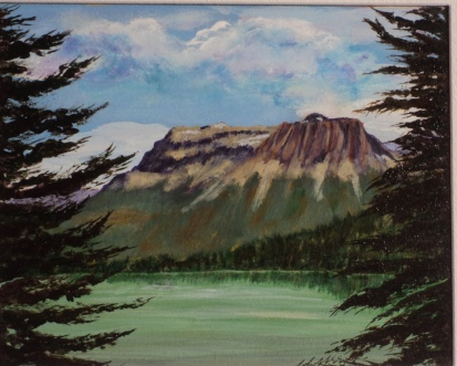 Emerald Lake Wapta Mt. #17049, $250, Acrylic, 8x10