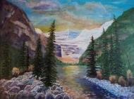 Lake Louise, #17044, $2995, Acrylic, 30x40