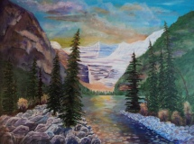 Lake Louise, #17044, $2995, Acrylic, 30x40