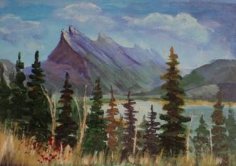 Mount Rundel, #18021, $99, Acrylic, 5x7