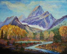 Mountain Majesty, #18016, $750, Acrylic, 16x20