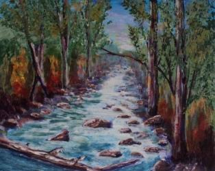 Paradise Found, #17067, $250, Acrylic, 8x10