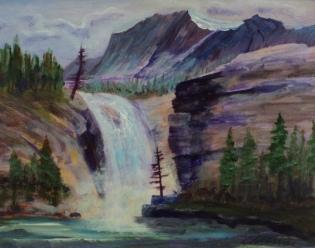 Rocky Mountain Waters, #17041, $250, Acrylic, 8x10