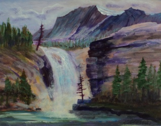 Rocky Mountain Waters, #17041, $250, Acrylic, 8x10