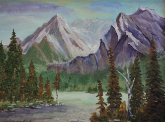 Rocky Mountain Wilderness, #18017, $575, Acrylic, 12x16