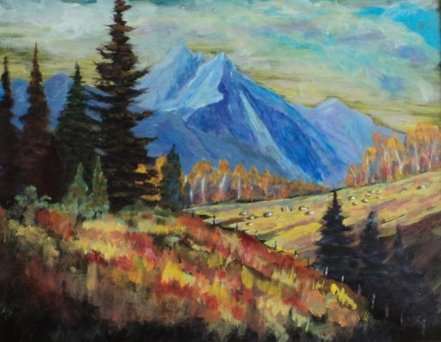 Rocky Mountain Wonder, #18007, $460, Acrylic, 11x14