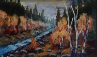 Whitewater Wilderness, #18014, $99, Acrylic, 7x5