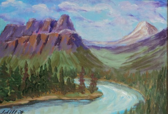 Castle Mountain 7, #18022, $99 Acrylic, 5x7