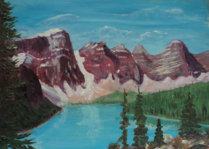 Moraine Lake 16, #18032, $250, Acrylic, 8x10
