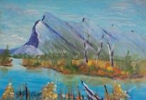 Mount Rundle, #18033, $99, Acrylic, 5x7