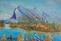 Mount Rundle, #18033, $99, Acrylic, 5x7